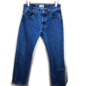 Levis 501 Mens Jeans, Medium Wash 30x30